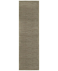 "Oriental Weavers Richmond Casual Grey/Brown 2'3"" x 7'6"" Runner Rug"