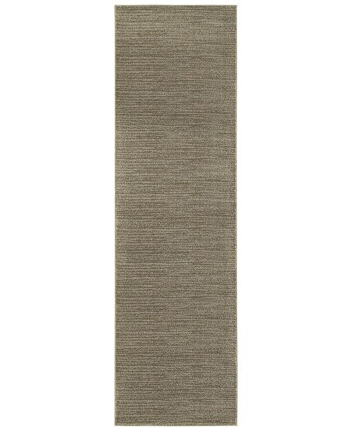 "JHB Design  Tidewater  Casual Grey/Brown 2'3"" x 7'6"" Runner Rug"