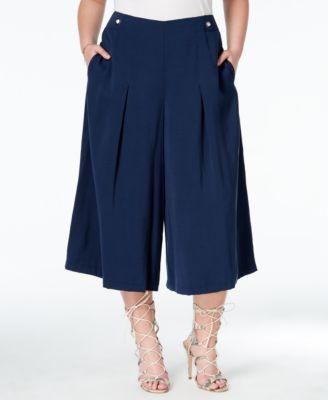 Gaucho Pants Plus Size LNp9cP4P