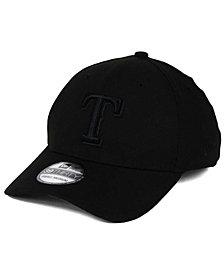 New Era Texas Rangers Black on Black Classic 39THIRTY Cap