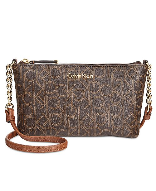a96aa89668 Calvin Klein Hayden Signature Chain Strap Crossbody & Reviews ...