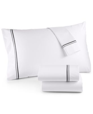 525 Thread Count Cotton Embroidered Twin Sheet Set, Created for Macy's