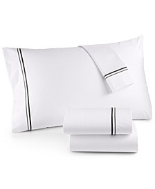 525 Thread Count Cotton Embroidered Queen Sheet Set, Created for Macy's