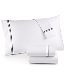 Hotel Collection 525 Thread Count Cotton Embroidered Full Sheet Set, Created for Macy's
