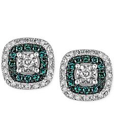 Diamond Multicolor Stud Earrings (1/4 ct. t.w.) in Sterling Silver