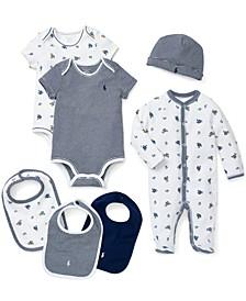 Ralph Lauren Bodysuits, Coveralls, Hat & Bibs Set, Baby Boys