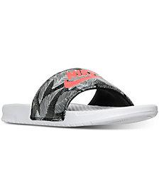 Nike Men's Benassi JDI Print Slide Sandals from Finish Line
