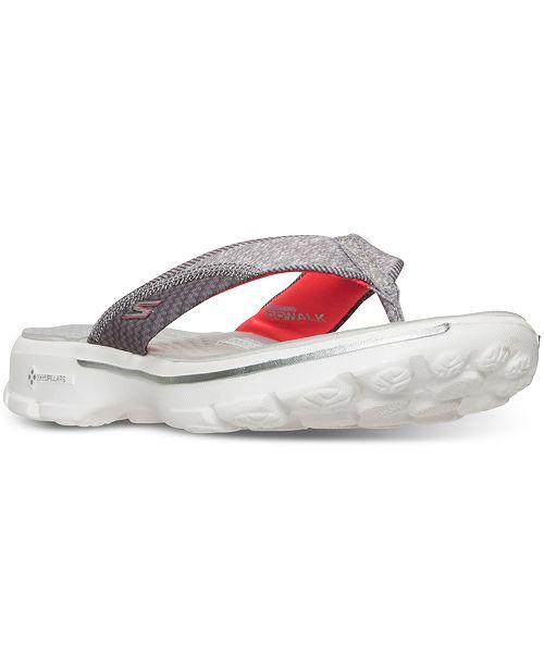 da9fd0c65753 ... Skechers Women s GOwalk 3 - Pizazz Flip Flop Walking Sandals from  Finish ...