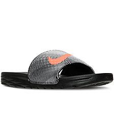 Nike Men's Benassi Solarsoft Print Slide Sandals from Finish Line