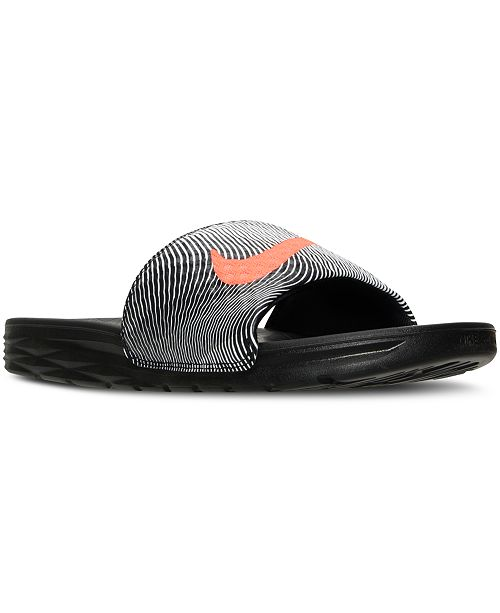 20a379f23 Nike Men s Benassi Solarsoft Print Slide Sandals from Finish Line ...