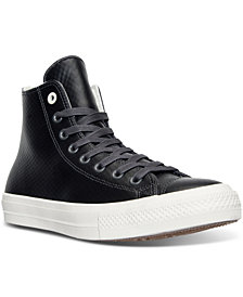Converse Men's Chuck Taylor All Star II High Top Mesh Backed Leather Casual Sneakers from Finish Line