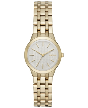Dkny Women's Park Slope Gold-Tone Stainless Steel Bracelet Watch 28mm NY2491