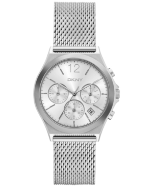 Dkny Women's Chronograph Parsons Stainless Steel Mesh Bracelet Watch 38mm NY2484