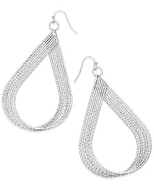 "Extra Large 2.5"" Textured Twist Teardrop Earrings, Created for Macy's"