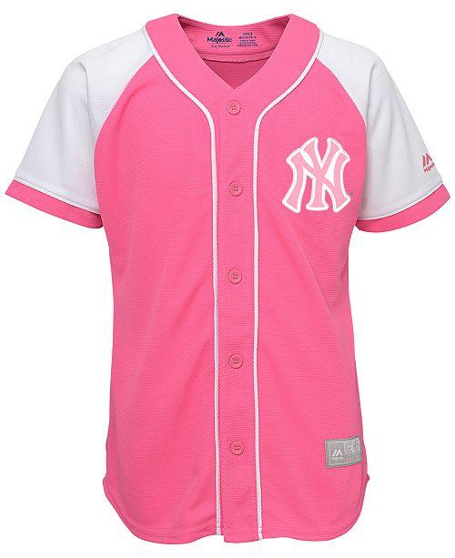 Fan Reviews Men Yankees Sports Majestic Shop Girls' - Fashion New Lids By amp; York Macy's Pink Jersey