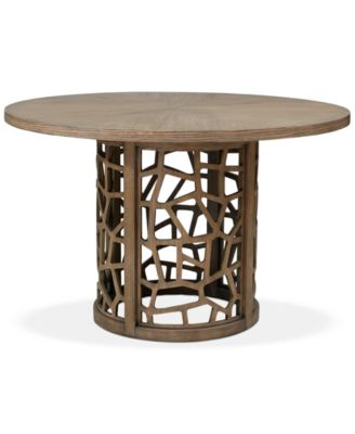 Crackle Round Dining Table, Quick Ship