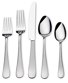 Gourmet Basics by 18/0 Stainless Steel 20-Pc. Satin Symmetry Flatware Set, Service for 4