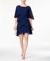 5b8f5a7d70b SL Fashions Beaded Tiered Capelet Dress