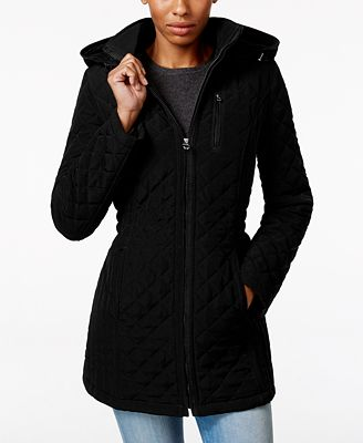 Laundry By Design Petite Hooded Quilted Jacket Coats Petites