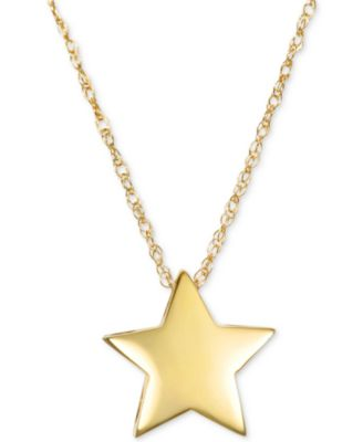 Polished Star Pendant Necklace in 10k Gold Jewelry Watches Macys