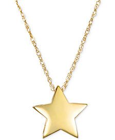 Polished Star Pendant Necklace in 10k Gold