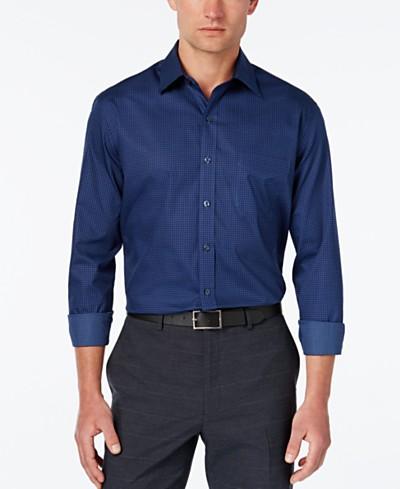 Tasso Elba 100% Cotton Regular-Fit Print Shirt, Created for Macy's