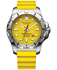 Victorinox Swiss Army Men's Swiss I.N.O.X. Professional Diver Yellow Rubber Strap Watch 45mm 241735.1