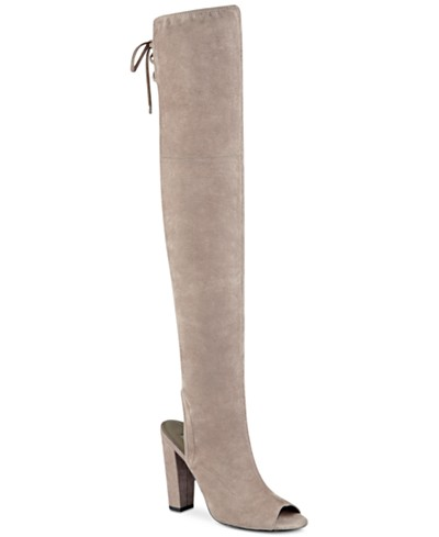 GUESS Women's Galle Over-The-Knee Peep-Toe Boots