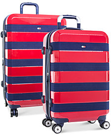 Tommy Hilfiger Rugby Stripe Expandable Hardside Spinner Luggage