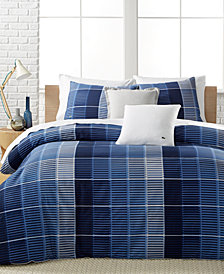 Lacoste Home Blue Albe King Duvet Set, Created for Macy's