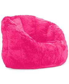 Derek Faux Fur Bean Bag Chair, Quick Ship