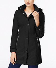 Calvin Klein Hooded Softshell Raincoat, Created for Macy's