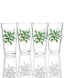 Holiday Acrylic Tumblers, Set of 4