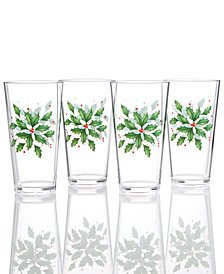 Lenox Holiday™ Acrylic Tumblers Set of 4