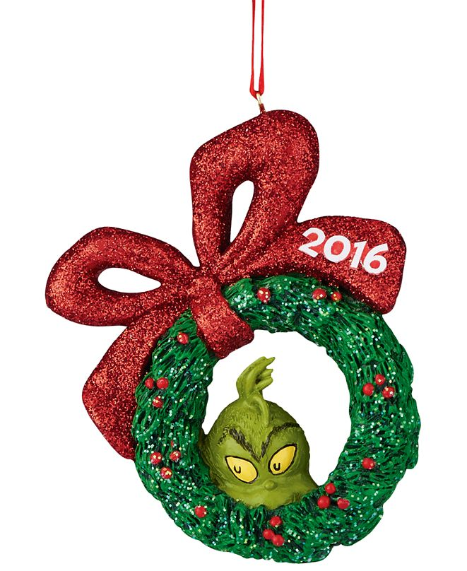 Department 56 Grinch 2016 Wreath Ornament