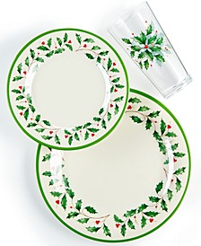 Holiday Melamine Dinnerware Collection
