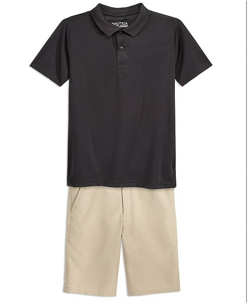 b9ad08d87d Nautica School Uniform Performance Shorts and Performance Polo Separates,  Big Boys