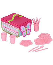 Melissa & Doug Girls' Cutie Pie Butterfly Picnic Set
