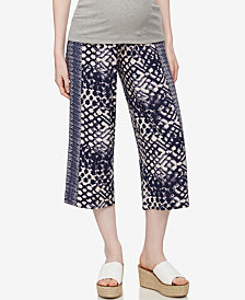 A Pea In The Pod Maternity Cropped Wide-Leg Pants