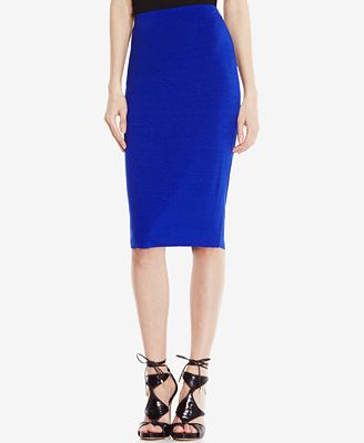 Vince Camuto Stretch-Knit Pencil Skirt, Only at Macy's - Skirts ...