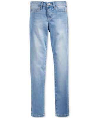 Light blue colored skinny jeans