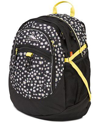 High Sierra FatBoy Backpack in Daisies