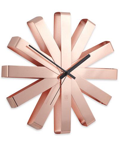 Umbra Ribbon Wall Clock - Clocks - Macy\'s