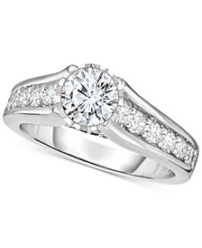 TruMiracle® Diamond Engagement Ring (1-1/2 ct. t.w.) in 14k White Gold