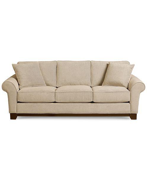 Fantastic Medland 89 Fabric Roll Arm Sofa With 2 Pillows Created For Macys Inzonedesignstudio Interior Chair Design Inzonedesignstudiocom