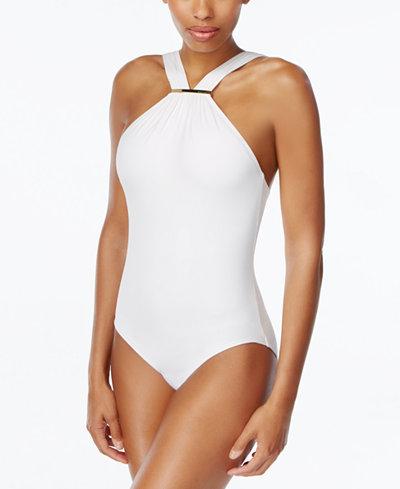 Michael Michael Kors High Neck One Piece Swimsuit