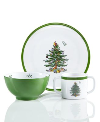 Christmas Tree 3-Pc. Kids Melamine Set