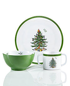 Spode  Christmas Tree 3-Pc. Kids Melamine Set