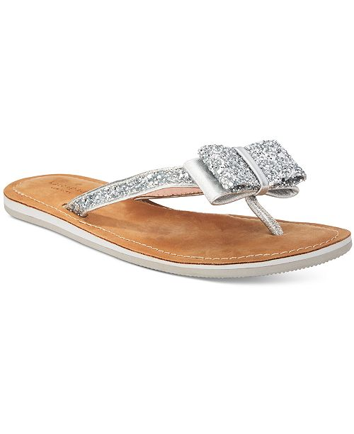 07a2be63fe25d8 kate spade new york Icarda Glitter Bow Flip Flops   Reviews ...