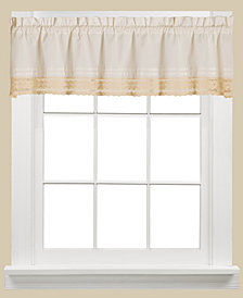 "Saturday Knight Heritage Macramé Trim 58"" x 13"" Valance"